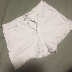 Victoria Secret Pink White Jean Shorts